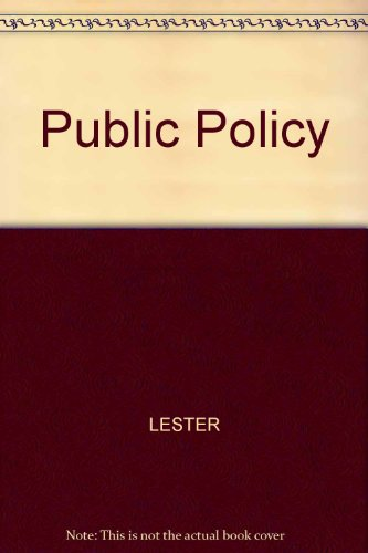 Public Policy An Evolutionary Approach 1st 9780314067500 Front Cover