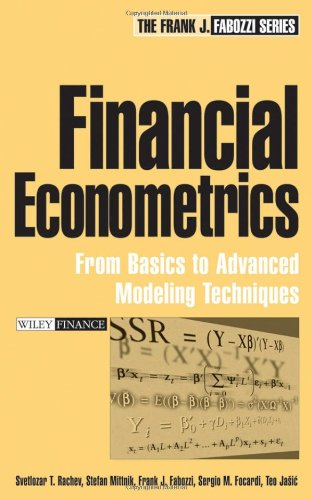 Financial Econometrics From Basics to Advanced Modeling Techniques  2007 edition cover