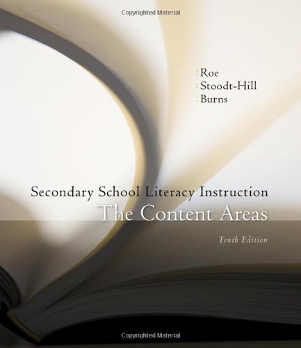 Secondary School Literacy Instruction  10th 2011 edition cover