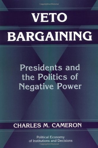 Veto Bargaining Presidents and the Politics of Negative Power  2000 edition cover
