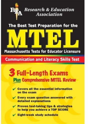MTEL The Best Test Preparation for the Massachusetts Tests for Educator Licensure: Communication and Literacy Test  2003 edition cover
