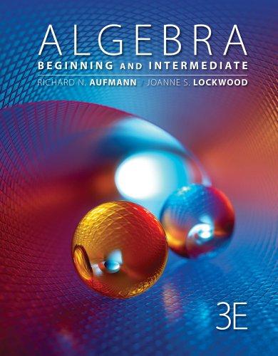Algebra Beginning and Intermediate 3rd 2013 edition cover