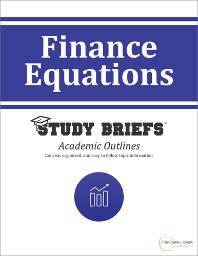 Finance Equations cover