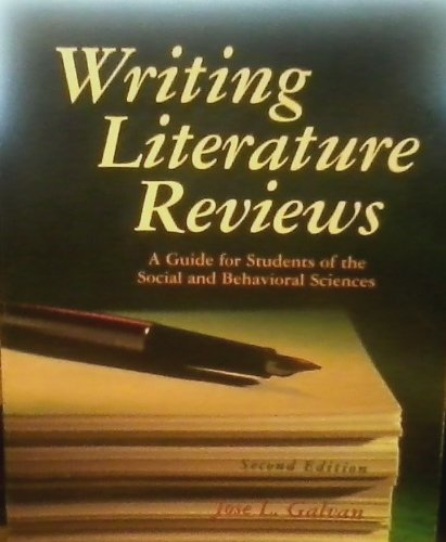 Writing Literature Reviews A Guide for Students of the Social and Behavioral Sciences 2nd 2004 (Revised) edition cover