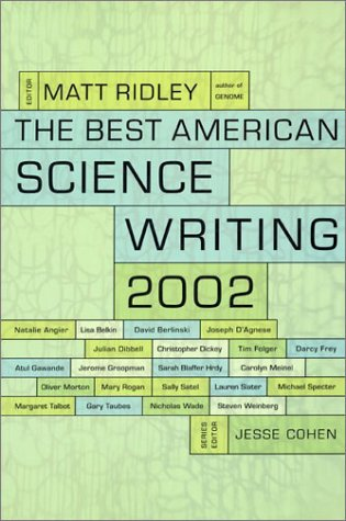 Best American Science Writing 2002  N/A 9780060936501 Front Cover