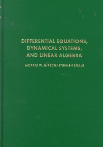 Differential Equations, Dynamical Systems, and Linear Algebra 1st 1974 edition cover