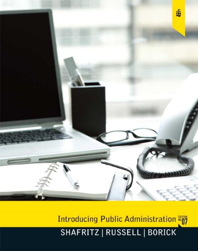 Introducing Public Administration  7th 2011 edition cover