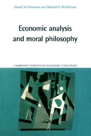 Economic Analysis and Moral Philosophy   1996 9780521558501 Front Cover