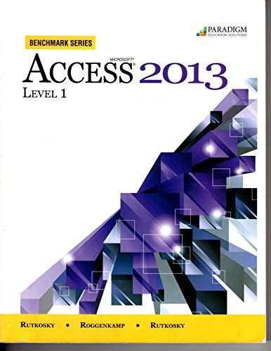 MICROSOFT ACCESS 2013,LEVEL 1  N/A 9780763853501 Front Cover