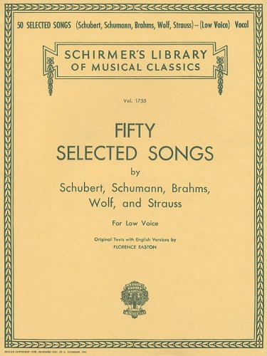 50 Selected Songs by Schubert, Schumann, Brahms, Wolf and Strauss  N/A edition cover