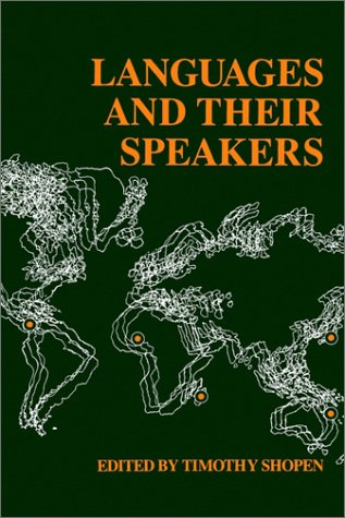 Languages and Their Speakers   1987 (Reprint) edition cover