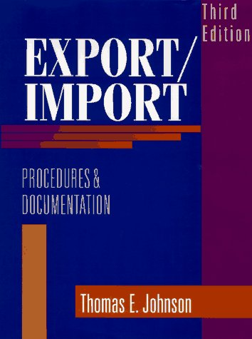 Export/Import Procedures and Documentation  3rd 1997 edition cover