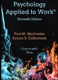 Psychology Applied to Work 11th Edition  2016 9780974934501 Front Cover