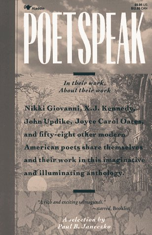 Poetspeak In Their Work, about Their Work: A Special Kind of Poetry Anthology Reprint  edition cover