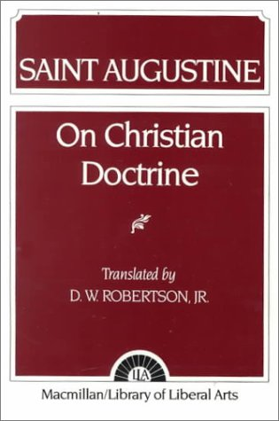 Augustine On Christian Doctrine  1958 edition cover
