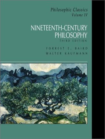 Philosophic Classics Nineteenth-Century Philosophy 3rd 2002 edition cover