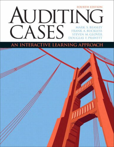 Auditing Cases An Interactive Learning Approach 4th 2009 9780132423502 Front Cover