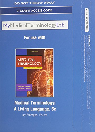 Medical Terminology A Living Language 5th 2014 9780133484502 Front Cover