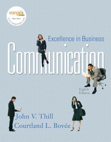 Excellence in Business Communication  8th 2008 edition cover