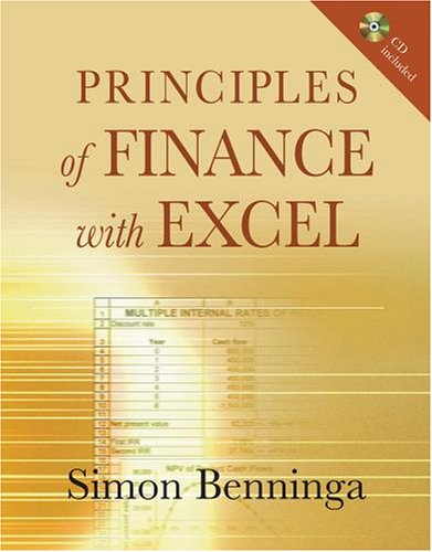 Principles of Finance with Excel   2005 edition cover