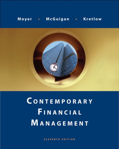 Contemporary Financial Management  11th 2009 edition cover