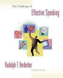 Challenge of Effective Speaking  11th 2000 9780534562502 Front Cover