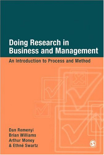 Doing Research in Business and Management An Introduction to Process and Method  1998 9780761959502 Front Cover