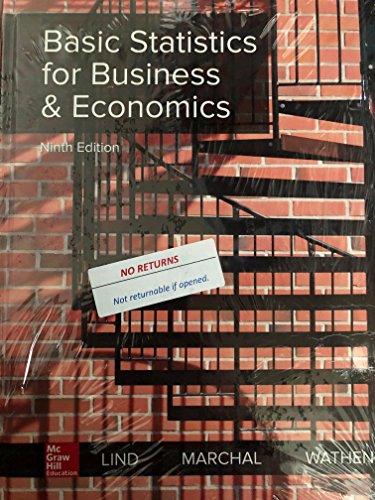 BASIC STATISTICS F/BUS.+ECONOMICS       N/A 9781260187502 Front Cover