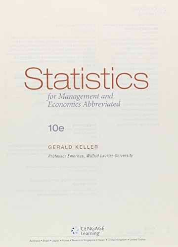 Statistics for Management and Economics, Abbreviated  10th 2016 9781305631502 Front Cover