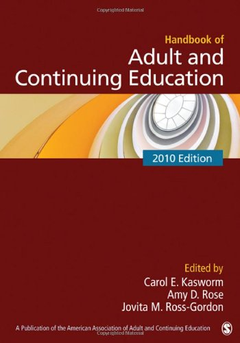 Handbook of Adult and Continuing Education   2010 edition cover