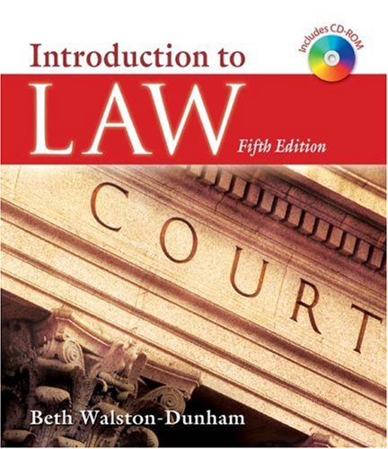 Introduction to Law  5th 2009 edition cover