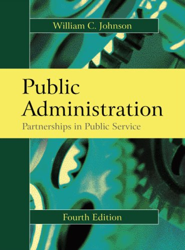 Public Administration Partnerships in Public Service 4th 2008 edition cover