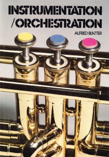 Instrumentation - Orchestration 1st 9780028732503 Front Cover