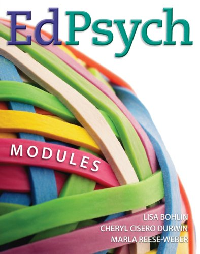EdPsych Modules  2009 edition cover