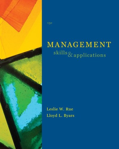 Management Skills and Applications 13th 2009 edition cover