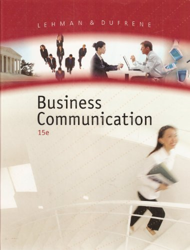 Business Communication  15th 2008 edition cover