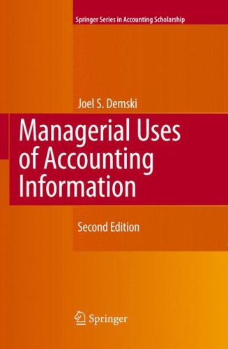 Managerial Uses of Accounting Information  2nd 2008 edition cover