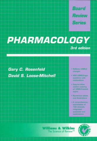 BRS Pharmacology  3rd 1998 (Revised) 9780683180503 Front Cover