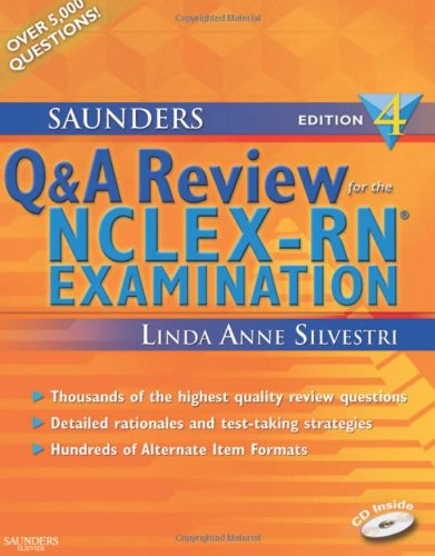 Saunders Q and A Review for the NCLEX-RN� Examination  4th 2009 edition cover