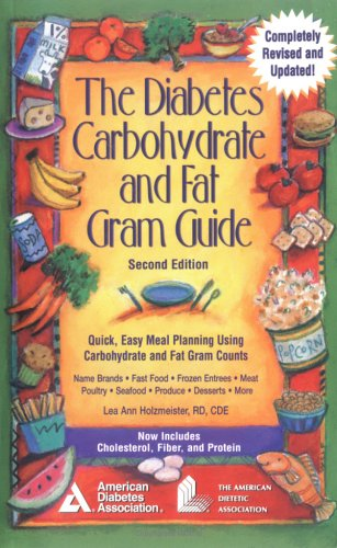 Diabetes Carbohydrate and Fat Gram Guide  2nd 2000 (Revised) 9781580400503 Front Cover