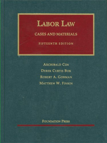 Labor Law  15th 2011 (Revised) edition cover