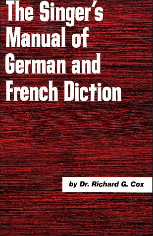 Singer's Manual of German and French Diction   1996 edition cover