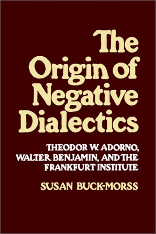 Origin of Negative Dialectics Theodor W. Adorno, Walter Benjamin, and the Frankfurt Institute  1979 9780029051504 Front Cover