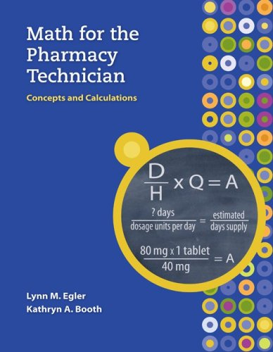 MP Math for the Pharmacy Technician with Student CD-ROM   2010 edition cover