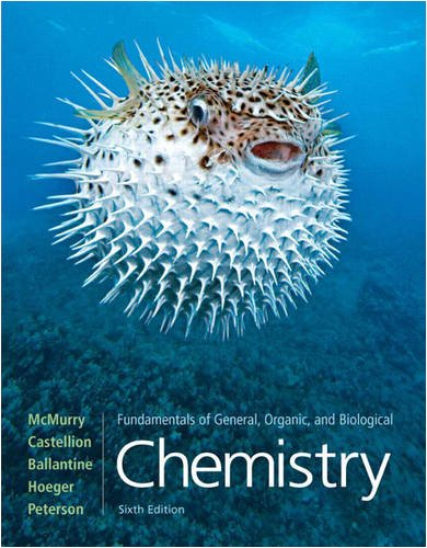 Fundamentals of General, Organic, and Biological Chemistry  6th 2010 edition cover