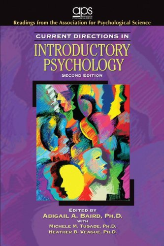 Current Directions in Introductory Psychology  2nd 2009 9780137143504 Front Cover