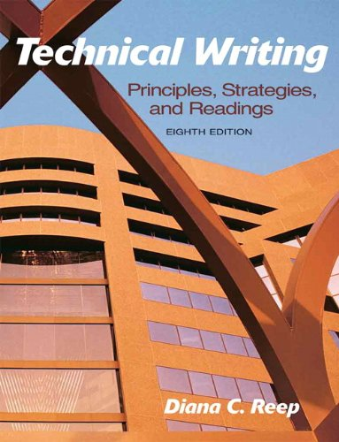 Technical Writing Principles, Strategies, and Readings 8th 2011 edition cover
