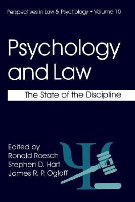 Psychology and the Law The State of the Discipline  1999 9780306459504 Front Cover