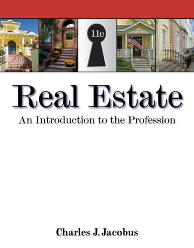 Real Estate An Introduction to the Profession 11th 2009 edition cover