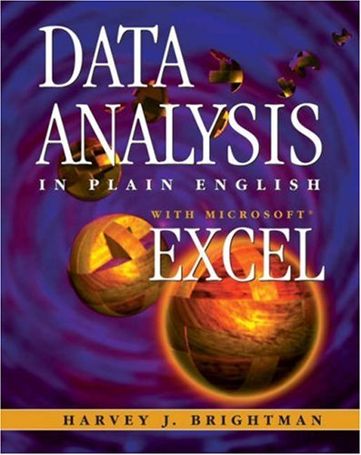 Data Analysis in Plain English with Microsoft Excel   1999 9780534526504 Front Cover